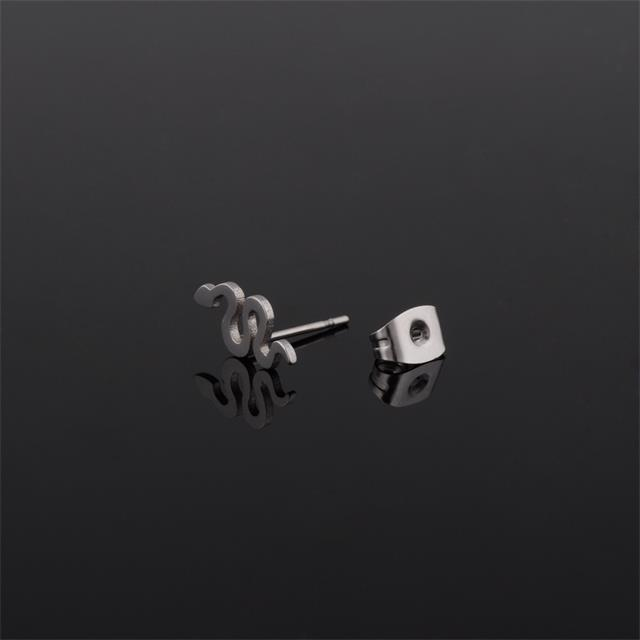 Wholesale snake shaped earring studs stainless steel jewelry