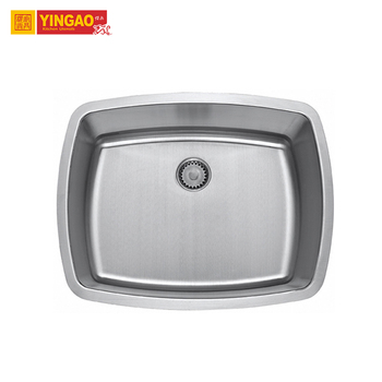 Standard Size Single Bowl 304 Stainless Steel Rectangular Handmade Kitchen Sink