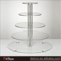 High quality five frames clear acrylic cup cake tier holder