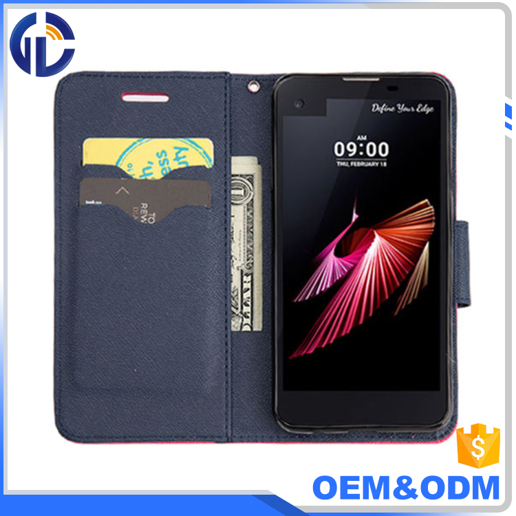 hot selling wholesale phone case card holder mobile phone wallet leather flip cover case for LG K10 2017/LV5