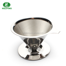 Coffee filter cup stainless steel pour over coffee dripper