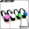 Long wire cheap 40mm speaker headphones noise cancelling for kids