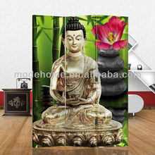 Hot Sell New Buddha Cheap Room Divider Screen Canvas Screen Folding Screen