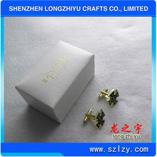 2013 Hot New fashion luxurious cufflink box with traditional style blank cufflink