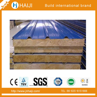rock wool sandwich wall panel used for the prefab house made in china