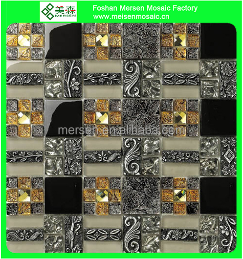 Glass mosaic mosaic floor tile mosaic border MK0510