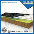 ground using aluminum solar mounting system