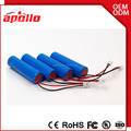 Can be customized 3 wires with pcm icr18650 3.7v 2200mah li-ion battery rechargeable battery