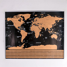 Newest stock deluxe scratch map black and Gold deluxe foil scratch-off travel poster wallpaper world scratch map