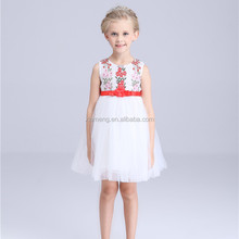 2016 fashion style picture of children casual dress for 2-8 years old