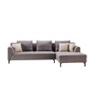 Wooden Fabric Sofa Modern Couch Living