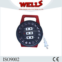 Retractable plastic cable reel for vacuum cleaner