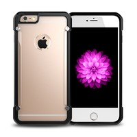 Latest design top sale flexible price for iphone 6 hard transparent plastic mobile covers
