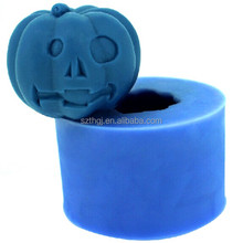 3D funny design pumpkin shaped silicone fondant cake mold for Halloween