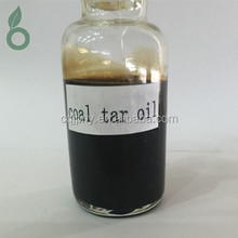 Crude coal tar oil for pitch refining and producing