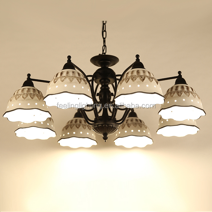 High quality American style ceramic shade decorative hanging pendant light