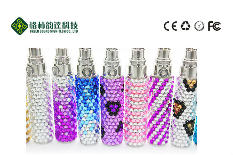 newest fashionable design colorful ego Luxury Crystal battery ego electronic cigarette
