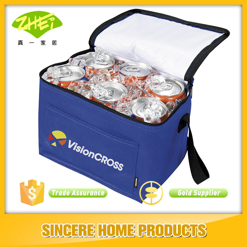 Wholesale High Quality wine&beer bottle Zipped cooler bag