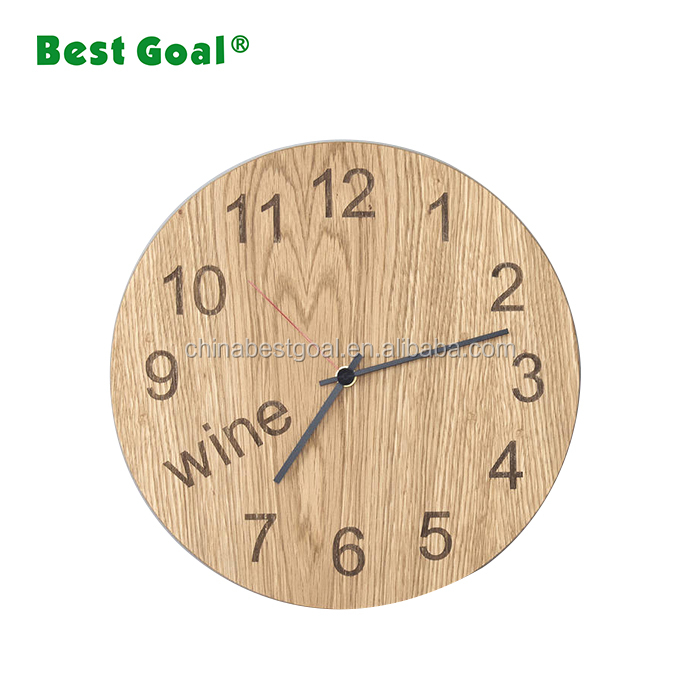 Antique wooden wall round clocks for household decor