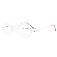 2015 fashion gold Frame metal round assorted colors reading glasses