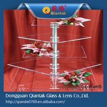 Customized Square 5 Tiers Acrylic Display Stand Cake Stand Wedding