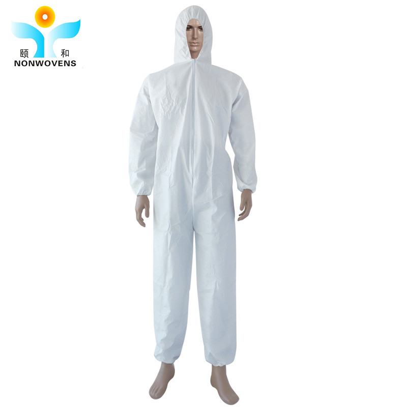 YIHE Disposable Nonwoven Chemical Protective medical patient working men's overall coverall