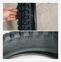china factory motorcycle tires small off road pattern 2.75 18