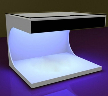Custom made acrylic plexiglass display box with led light inside for cosmetics