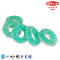 Sweet mint circle gummy soft candy