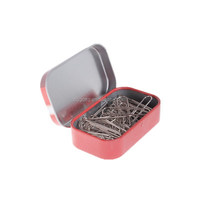 small mini rectangular tin box hinged