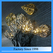 2016 new product christmas Customized led light string, led fairy string light, metal leaf decorative light