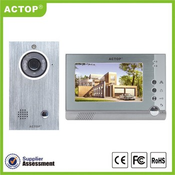 2014 new 7inch Motion detector Wire smart video doorbell with DVR