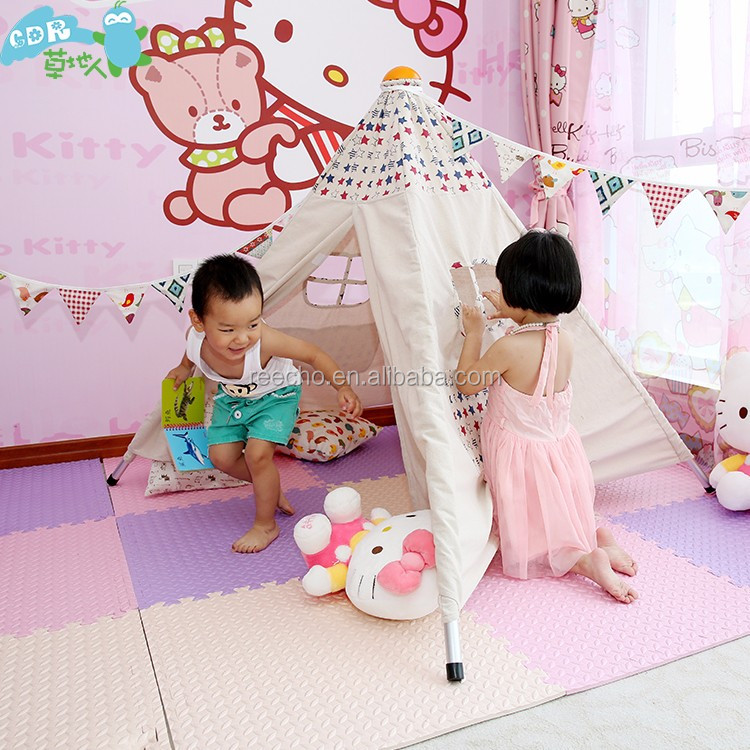 Wholesale Small Canvas Indoor Children Play Bell Tent Camping Tents
