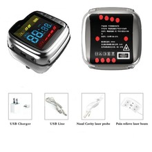 Digital mini type stainless steel joint laser pain relief wrist watch