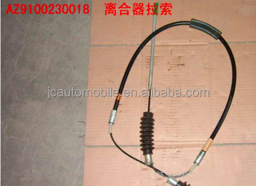 Original truck spare parts clutch release cable for JAC Sinotruk trucks