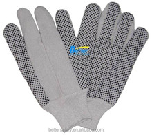 All-Purpose Knit Wrist Canvas With Black PVC Dots Cotton Glove, Work Glove
