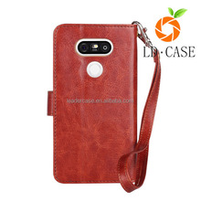 Manufacturer Wholesale Ultra Thin Slim Leather Flip Magnetic Cheap Mobile Phone Case for LG G5