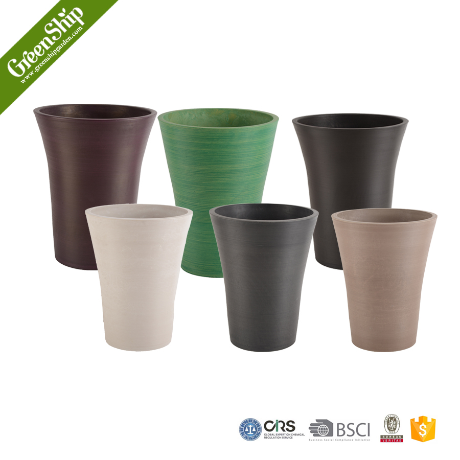 Decorative Cheap Plastic Flower Pot from Greenship/ 20 years lifetime/ lightweight/ UV protection/ eco-friendly