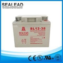 solar school street light system 38ah 12volt free maintenance series storage gel battery for street light panel