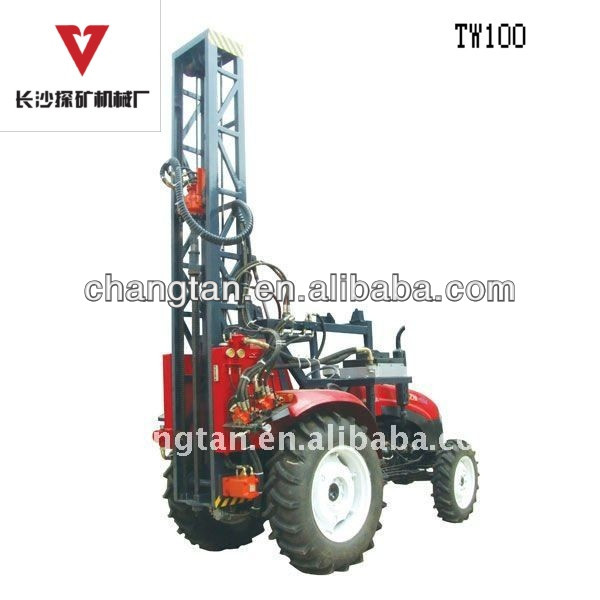 Tractor diesel borehole hard rock drilling machine for sale