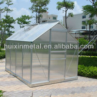 New Aluminium Polycarbonate Garden Greenhouse With
