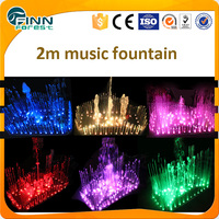 Modern Style Lighted Garden Fountains for Water Feature Decoration