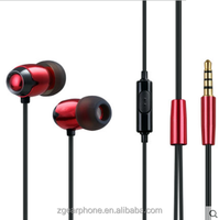 Cheap mobile earphone with MIC for MP3/MP4