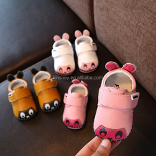 KS00507C Infant newest designs genuine leather shoes cartoon animal baby shoes in bulk