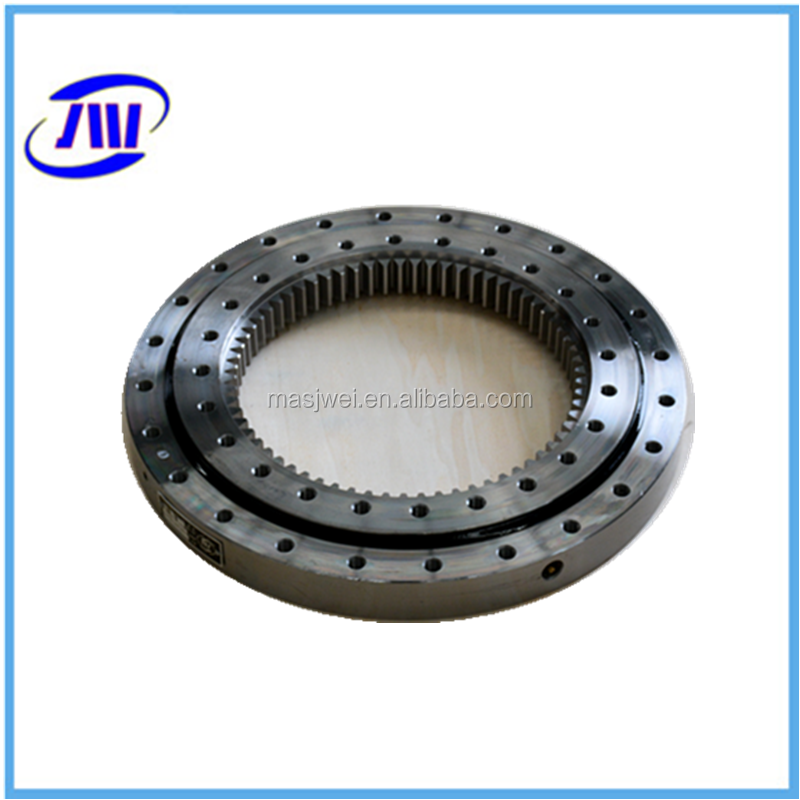 Cross bearing and permanent magnet bearing bearing for excavator rubber track