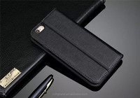 "Top Quality Tooth Pick Grain Mobile Phone card slot Flip Cace For iPhone 6 6s 5.5"" Full-grain Genuine Leather Case"
