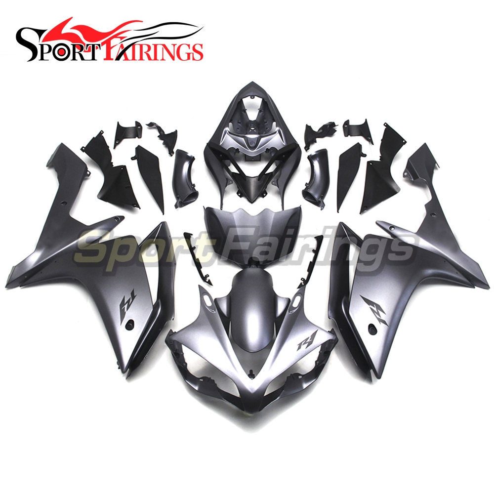 Full Fairings For Yamaha <strong>R1</strong> 2007 <strong>2008</strong> 07-08 ABS Plastic Injection Motorcycle Body Kits Cowling Flat Black Fairing Kit