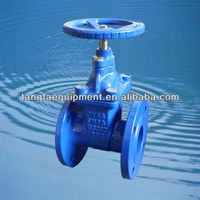 ductile iron wedge with EPDM coated F4 gate valve