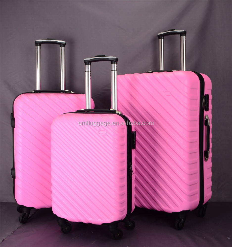3pcs <strong>ABS</strong> cheap travel luggage sets with china market supplier