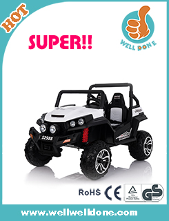 WDS2388 Rechargeable Battery For Baby Musical Toys With Four Motors And Pull Bar For Kids Play Ride, 2.4g r/c